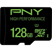 PNY PSDUX128U160GGE High Performance Class 10 UHS-I/U1 128GB High Speed microSDXC  up to 60MB/sec Flash Memory Card