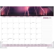 "2016 AT-A-GLANCE® Nature Monthly Desk Pad Calendar, Design, (DMD170-32), 22"" x 17"""