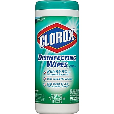 Clorox® Disinfecting Wipes, Fresh Scent, 35 Wipes/Canister, 12/Ct