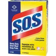 S.O.S® Steel Wool Soap Pad, 15/Box