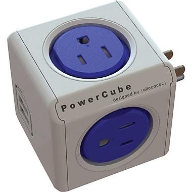 PowerCube Original 4-Outlet Powerbar with 2 USB Ports, Cobalt Blue