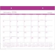 "2016 AT-A-GLANCE® Color Play Desk Pad Calendar, Purple, (SKCP24-59), 22"" x 17"""