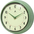Infinity Instruments 10940-GREEN Retro Steel Analog Wall Clock, Green