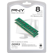 PNY PC Memory Desktop Kit DDR3 8GB (2x4GB) 1600MHz CAS 11