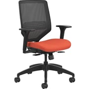 HON Solve Mid-Back Task Chair Black ilira-Stretch Mesh Back Adjustable Lumbar Frame Bittersweet Seat Fabric (HONSVMM1ALCO46)
