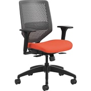 HON Solve Mid-Back Task Chair Charcoal ReActiv Back Bittersweet Seat Fabric (HONSVMR1ACLCO46)