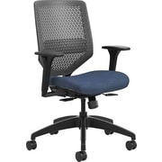 HON Solve Mid-Back Task Chair Charcoal ReActiv Back Adjustable Lumbar Midnight Seat Fabric (HONSVMR1ACLCO90)