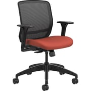 HON Quotient Mesh Back Task Chair Synchro-Tilt, Black Mesh Poppy Fabric (HONQTMMY1ACU42)