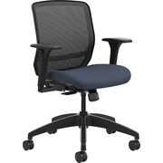 HON Quotient Mesh Back Task Chair Synchro-Tilt, Black Mesh Cerulean Fabric (HONQTMMY1ACU90)