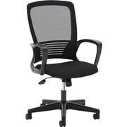 basyx by HON Mesh High-Back Chair Center-Tilt, Black Frame Black Mesh (BSXVL525ES10)