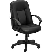 basyx by HON Executive High-Back Chair Center-Tilt,Black SofThread Leather(BSXVL601SB11)