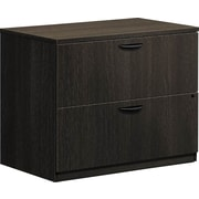 "basyx by HON BSXBL2171ESES BL Series Lateral File 2 Drawers 35-1/2""W x 22""D x 29""H Espresso Finish (BSXBL2171ESES)"