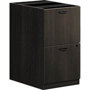 "basyx by HON BSXBL2163ESES BL Series Pedestal File 2 File Drawers 15-5/8""W x 21-3/4""D x 27-3/4""H Espresso Finish (BSXBL2163ESES)"