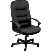basyx by HON Executive High-Back Chair Center-Tilt, Black SofThread Leather(BSXVL641SB11)
