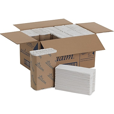 Acclaim 1-Ply C-Fold Paper Towels, White, 2,400/Case