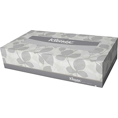 Kleenex® Facial Tissue, 2-PLY, White, 48 Boxes/Case, 125 Sheets/Box (21606)