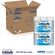 Kleenex® Cottonelle® Ultra Soft Standard Roll Bathroom Tissue, 165 Sheets/Roll, 12 Rolls/Pack, 4 Packs/Case (12456)