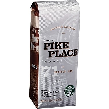 Starbucks® Pike Place® Ground Coffee, Regular, 1 lb. Bag