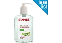 Staples® Instant Hand Sanitizer with Aloe, 8 oz.