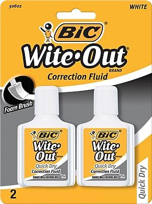 BIC Wite Out Brand Quick Dry Correction Fluid White 2 Pack WOFQDP24 A WHI