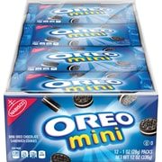 Nabisco Mini Oreo Chocolate Sandwich Cookies, 1 oz, 12 count