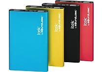 iTek by Soundlogic 2200- 3600mAh Ultra Slim Aluminum Power Bank, Assorted Colors