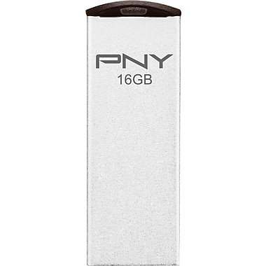 PNY Attache P-FDI16G/APPMT2 16GB USB 2.0 Micro Flash Drive, Matte Silver