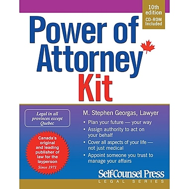 Self Counsel Press National Power of Attorney Kit