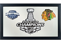 Chicago Blackhawks Stanley Cup Logo Framed Mirror