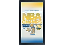 Golden State Warriors 2015 NBA Champs Framed Logo Mirror