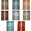 "Lavish Home Metallic Grommet 84"" Curtain Panels, Assorted Colors"