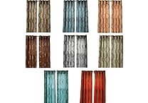 Lavish Home Metallic Grommet 84' Curtain Panels, Assorted Colors