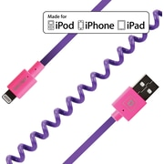 FLEX Coiled Sync and Charge Cables - Neon Purple