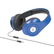 Delton Sonic Wave 1000 DJ Headphones with Mic, Blue