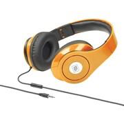 Delton Sonic Wave 1000 DJ Headphones with Mic, Neon Orange