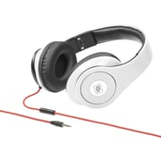 Delton Sonic Wave 1000 DJ Headphones with Mic, White