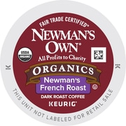 Newman's Own Organics French Roast Caffeinated Coffee Dark Roast 24 Count (35339)