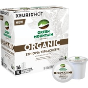 Green Mountain Coffee® Organic Ethiopia Yirgacheffe, Regular Keurig® K-Cup® Pods, 16 Count