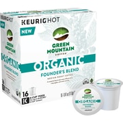Green Mountain Coffee® Organic Founder's Blend, Regular Keurig® K-Cup® Pods, 16 Count