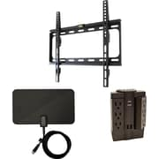 "Cut the Cable 26"" - 50"" TV Mounting Kit Includes Mount, HDTV Antenna, Swivel Surge Protector"