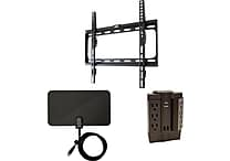 Cut the Cable Mounting Kit w/ Mount, HDTV Antenna & Swivel Surge Protector, Assorted Sizes