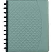 "Staples® Arc System Customizable Quilted PU Leather Notebook System, Mint, 9-1/2"" x 11-1/2"", 60 Sheets"