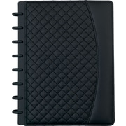 """Staples® Arc System Customizable Quilted PU Leather Notebook System, Black, 6-1/2"""" x 8-1/2"""", 60 Sheets"""