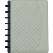 "Staples® Arc System Customizable Quilted PU Leather Notebook System, Ivory, 6-1/2"" x 8-1/2"", 60 Sheets"
