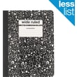 "Staples® Composition Notebook, Wide Ruled, Black, 9-3/4"" x 7-1/2"""
