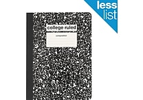 Staples Composition Notebook, College Ruled, Black, 9-3/4' x 7-1/2', Each (40451M-CC)