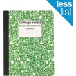 "Staples® Composition Notebook, College Ruled, Green, 9-3/4"" x 7-1/2"""