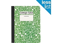 Staples® Composition Notebook, College Ruled, 9-3/4' x 7-1/2', Green