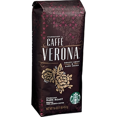 Starbucks® Caffe Verona® Ground Coffee, Regular, 1 lb. Bag