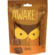 Awake Caffeinated Chocolate™ Caramel Chocolate Bites, 5.29 oz. Bag, 6/Ct